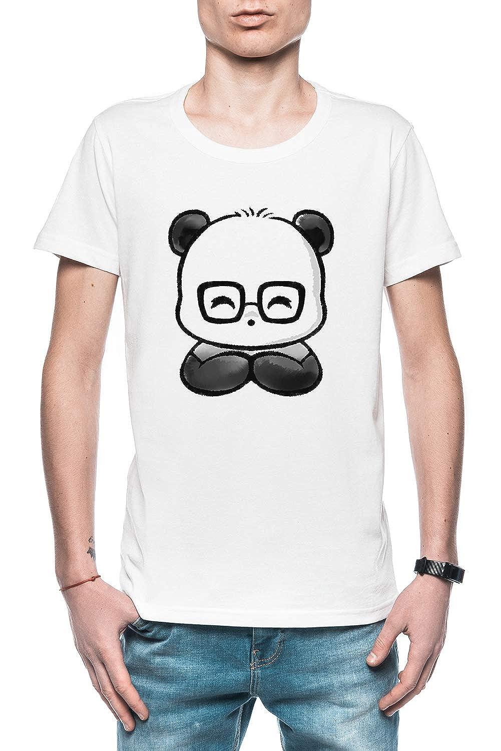 Friki Elegante Panda Hombre Camiseta Blanco Todos Los Tamaños ...