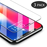 Vetro Temperato iPhone X, GAVAER 3 Pack Pellicole Protettive in Vetro Temperato Screen Protector per iPhone X/ iPhone 10 (0.25mm HD Alta Trasparenza, Face ID Compatible)