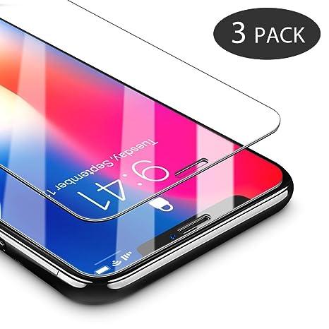 CoolReall Vetro Temperato iPhone X (3 Pack) (Trasparente)