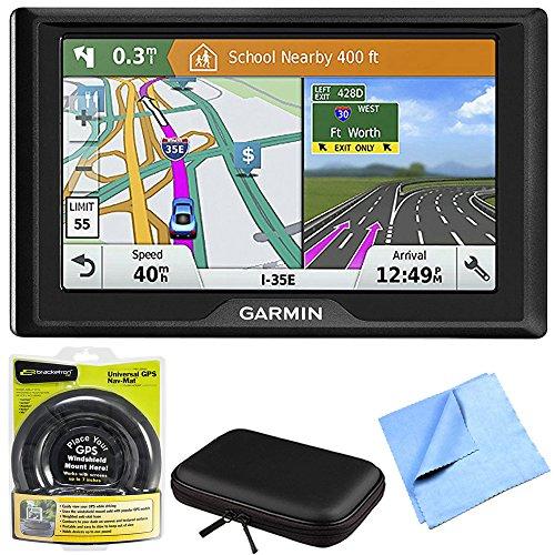 Garmin Drive 61 LM GPS Navigator with Driver Alerts USA (010-01679-0B) with Nav-Mat Portable GPS Dash Mount, PocketPro XL Hardshell Case for 7-Inch Tablets & 1 Piece Micro Fiber Cloth