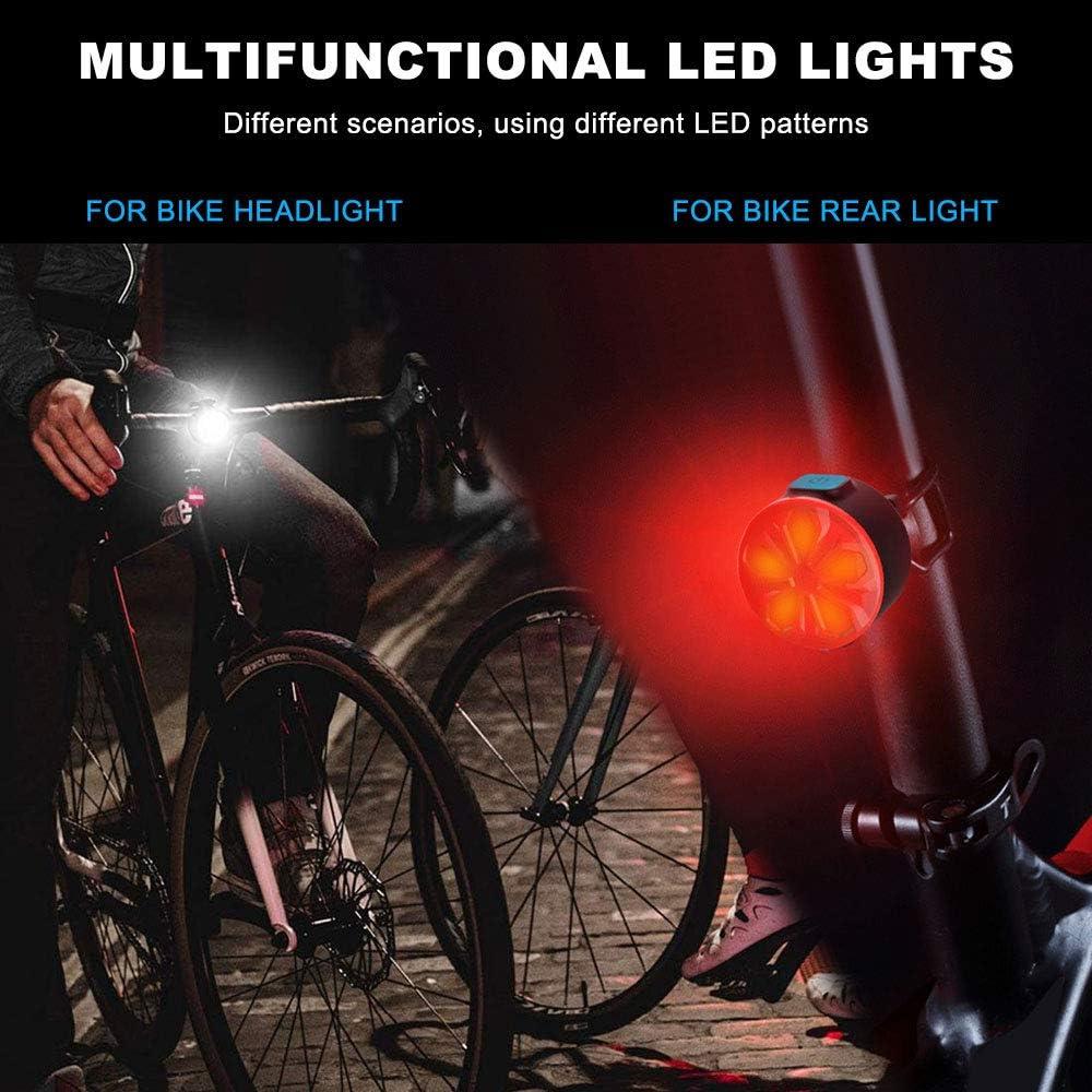 Luces Bicicleta LED Delantera y Trasera,12 Modos con Funci/ón de Memoria On//Off,IPX5 Impermeable,Luces Seguridad para Ciclismo de Monta/ña y Carretera EBUYFIRE Luz Bicicleta Recargable USB