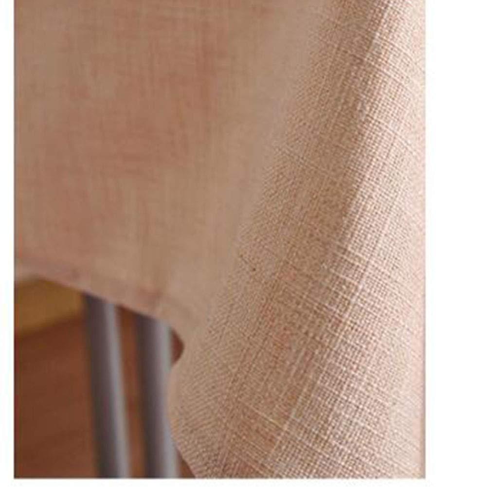 qwert Tovaglia Rettangolare 28x28inch Tavolo da Pranzo Tovaglia Tinta Unita Cotone Polvere Polvere-Prova Ristorante Giardino Hotel Tovaglie Ristorante-a 70x70cm