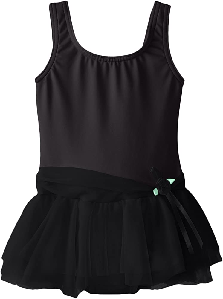 Clementine Apparel Girls Sleeveless Tank Tutu One Piece Bodysuit Leotard Dance Dress Dancewear Costume