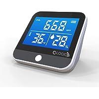 C-Logic Medidor CO2 - Monitor de Calidad del Aire Detector dióxido de Carbono , Temperatura y Humedad, portátil…