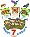 Wildflower Seeds Bulk + 7 BONUS Gardening eBooks + 100,000 Open-Pollinated Wildflower Seed Mix Packets, Non-GMO, No Fillers, Annual, Perennial Wildflower Seeds Year Round Planting, Bees Pollinators