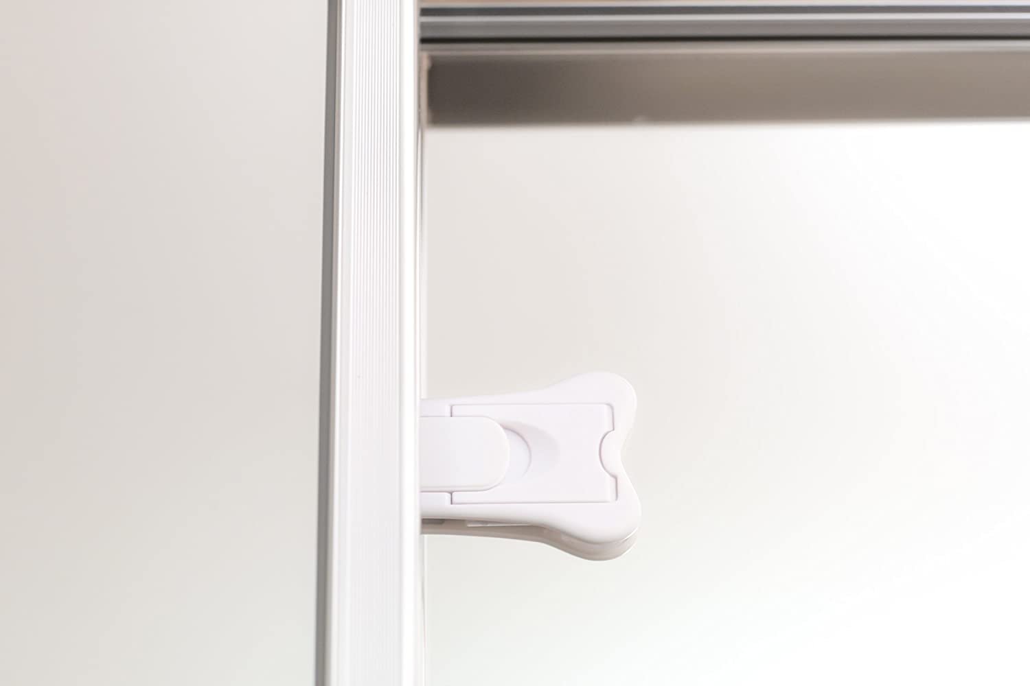 Shower Sliding Doors 4 Pack, White Closet Sliding Door Locks for Baby Proofing Keyless Child Safety Locks For Patio No Tools Install Shutters /& more