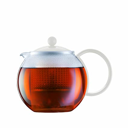 Amazon Bodum White Assam Glass Tea Press Pot 10 Liter 34