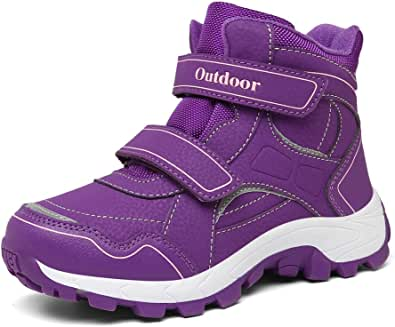 AFFINEST Botas de Invierno Niño Niña Botas de Nieve Forradas Cálidas Zapatos de Niños Antideslizantes Senderismo Zapatillas de Trekking