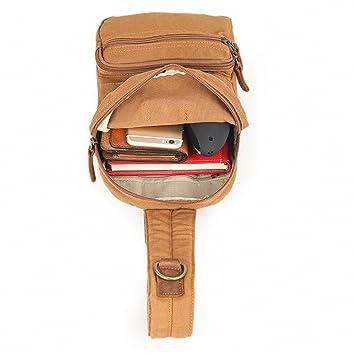 64c9667f32 Asdflina Multiuso Sling Bag per Uomo e Donna Chest Shoulder Gym Zaino  Canvas Satchel Outdoor Crossbody Pack Adatto per l uso Quotidiano   Amazon.it  Casa e ...