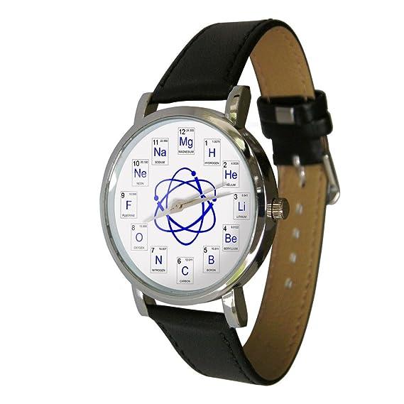 Reloj que muestra elementos químicos de la tabla periódica: Amazon.es: Relojes