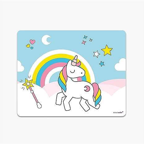 Unicornio de Mousepad | DV _ 144 | con base antideslizante | Ratón vacaciones Derecho de