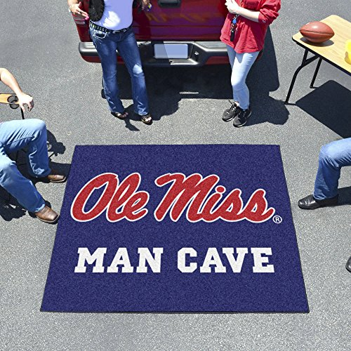 University of Mississippi - Ole Miss Man Cave Tailgater Rug 60