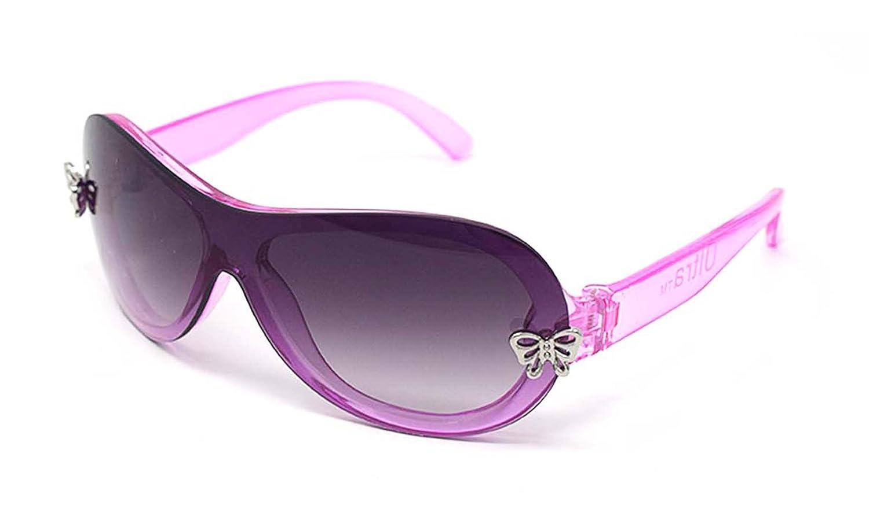 Ultra® rosa Mädchen Sonnenbrillen glänzend Kristall rosa Rahmen mit zwei silbernen Schmetterling Plaketten auf vorderen Perle Beschichtung für Rauch-Frame-Objektiv UltraByEasyPeasyStore PEAP1