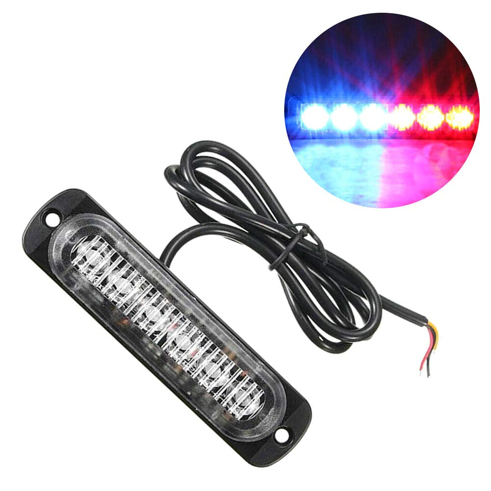 Dibiang 6 LED voiture camion tableau de bord stroboscopique flash durgence durgence lumi/ère rouge et bleue