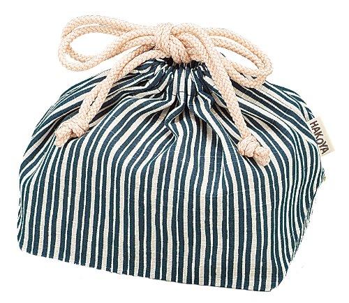 HAKOYA drawstring bag navy blue and bitterness 5830 from Ya Tatsumi