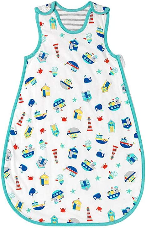 Saco de dormir de verano para bebé Slumbersac 1.0 Tog AOP Náutico 0-6 meses/70cm: Amazon.es: Bebé
