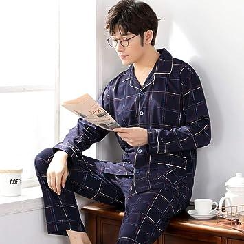 BENGKUI Pijamas para Hombre,Invierno 100% Algodón Pijamas ...