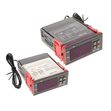 2PCS Conmutable -50~110 ℃ Termostato Electrónico Con Controlador ...