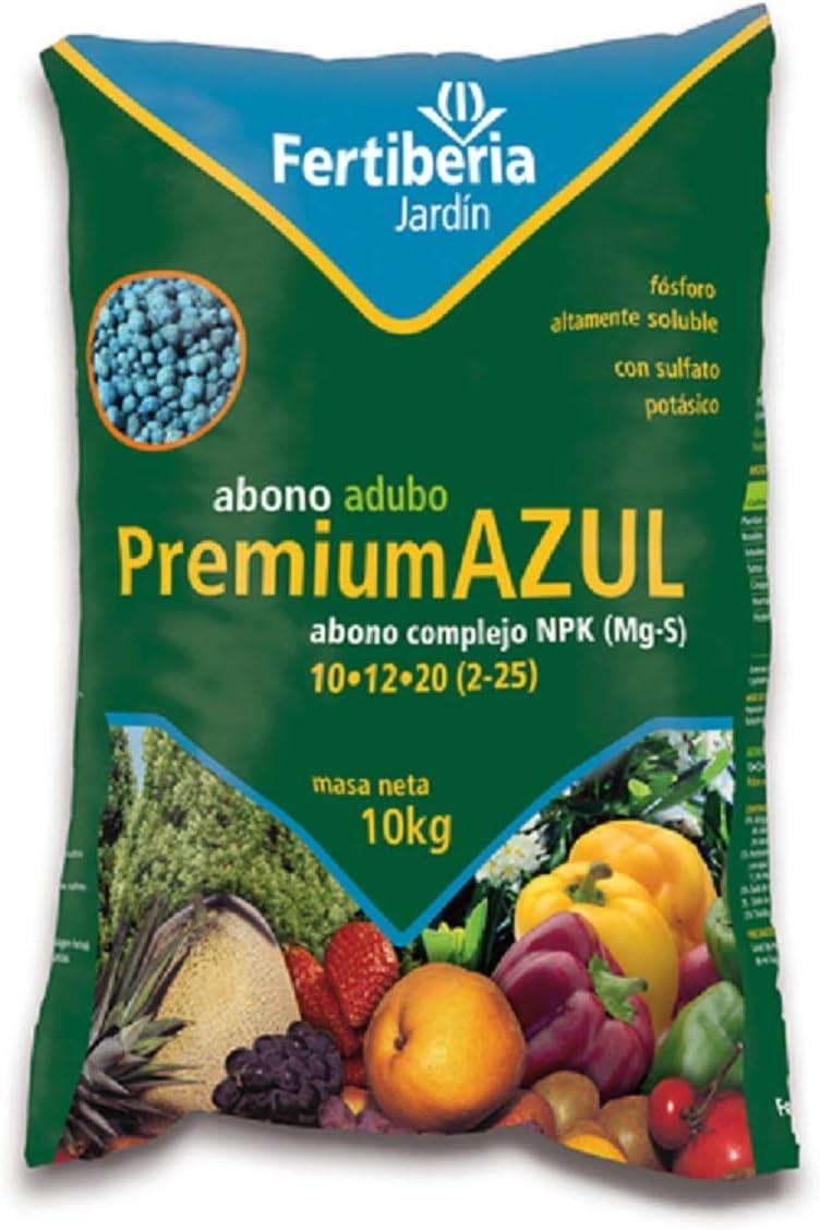FERTIBERIA Abono granulado Premium Azul 10Kg para Todo Tipo de Plantas