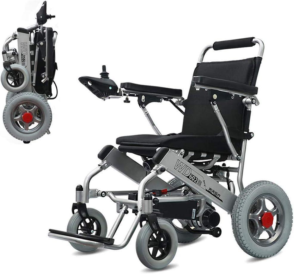 RSDPJ Silla de Ruedas eléctrica portátil Plegable para Ancianos discapacitados 250W * 2 / 24V 20Ah batería de Iones de Litio