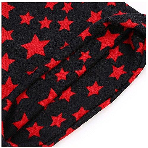 señoras de tapa tapa cabeza Red Hat MASTER hueca Halloween Navidad tapa cabeza pile sombreros del beanie Señoras hat thermal pañuelo paquete negra x4xqv0wS