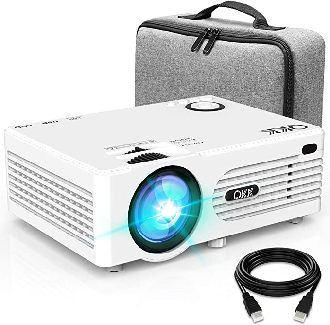 Proyector QKK 4500 Lumen Soporta 1080P Full HD, Proyector Mini con ...