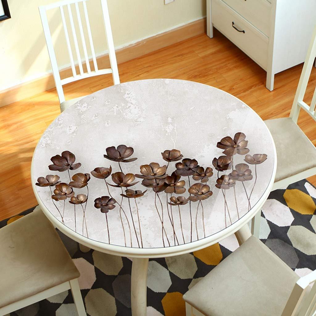 テーブルカバー ラウンドPVCテーブルマット、3Dプリント軟質ガラスラウンドテーブルトッププロテクターカバー、防水ホットアンチオイルテーブルクロス (サイズ さいず : 180cm) 180cm  B07NKYV29H