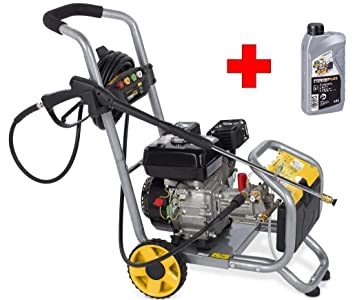 Profesional Gasolina limpiador de alta presión Motor de gasolina 173 Bar 4 especial Boquillas con motor