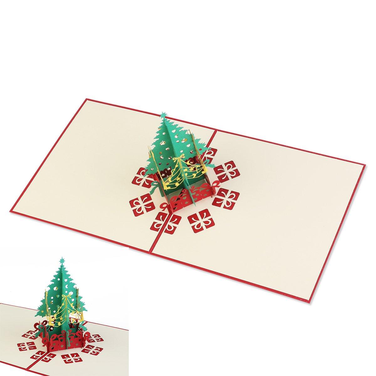 Pixnor 3D Weihnachtsbaum Grußkarten für Geschenkkarte Sammlung ...