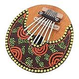 WSHA Kalimba Thumb Piano 7 Keys Tunable Coconut Shell Painted Musical Instrument