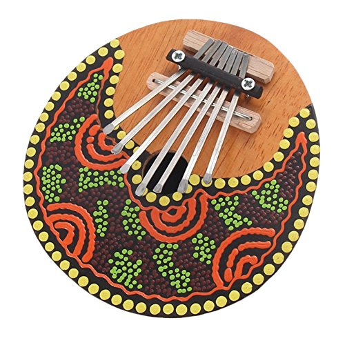 WSHA Kalimba Thumb Piano 7 Keys Tunable Coconut Shell Painted Musical Instrument by WSHA