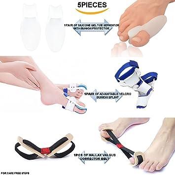 pedimendtm silicona Gel con separador de dedos juanetes Protector (1Pair) | cinturón de corrección de juanetes ...