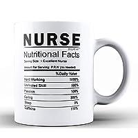 Shop4Ever Nurse Nutritional Facts Ceramic Coffee Mug