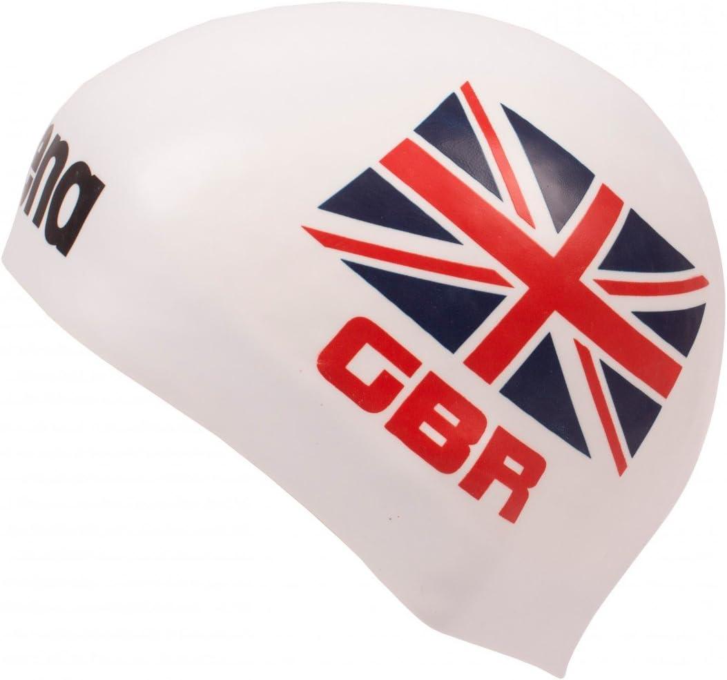 Arena 3d silicona Gorro – Bandera de Reino Unido – Edición Limitada Inglaterra, weiß: Amazon.es: Deportes y aire libre
