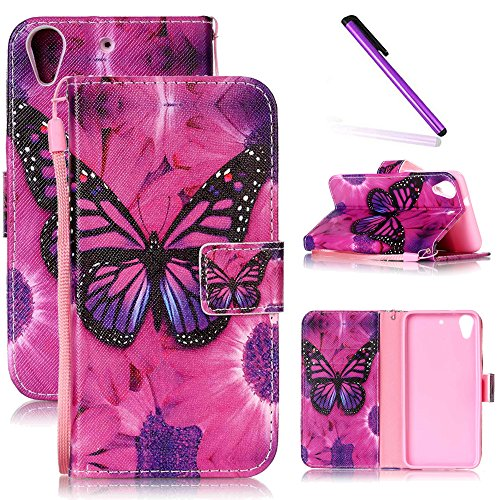 HTC Desire 626 Case, HTC 626 Case LEECOCO Fancy Print Design Wallet Case with Card Slots Shockproof Colorful Floral PU Leather Flip Stand Case Cover for HTC Desire 626/626s A - Phone Desire Htc Wallet