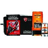 L'Oréal Paris Men Expert Hydra Energetic Cofanetto Regalo, Uomo, Collezione Ducati, Gel Doccia e Crema Idratante Viso