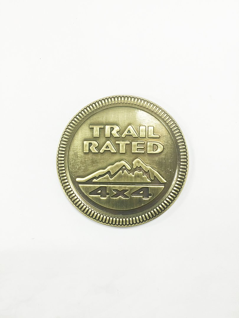 Dian Bin The Metal Sticker Trail Rated 4x4 Bronze Vehicle-badge Logo Emblem for Jeep Available