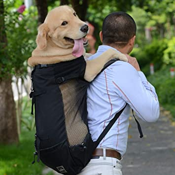 XDYFF Mochila para Transportar Mascotas Mochila Doble para el Pasajero del Animal doméstico del Perro,
