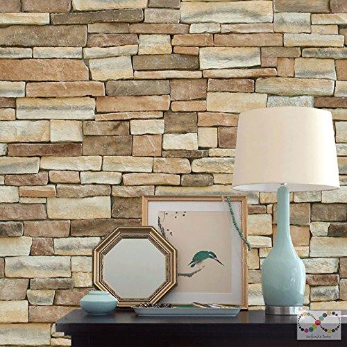Slate Stone Style Peel and Stick Wallpaper (20.5-in x 18-ft - Return Label Ups Service