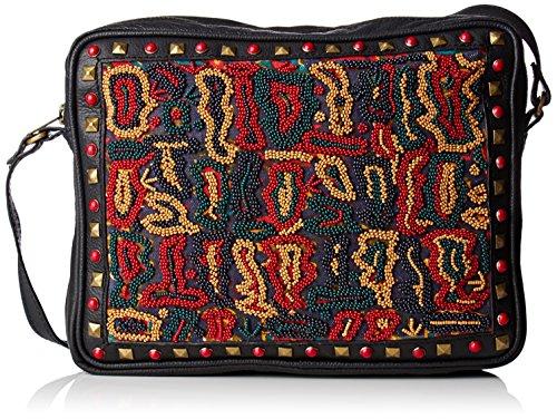 Antik Batik Myrez Bag - Borse Tote Donna, Noir (Black), 5x20x24 cm (W x H L)