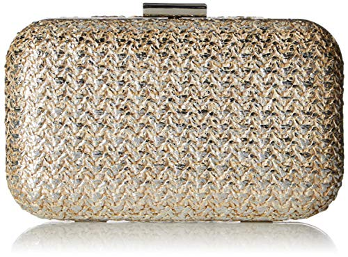Jessica McClintock Women's Molly Gold Metallic Minaudiere