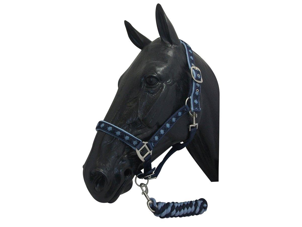 NEW Horse print fur padded headcollars halter matching lead PINK PONY