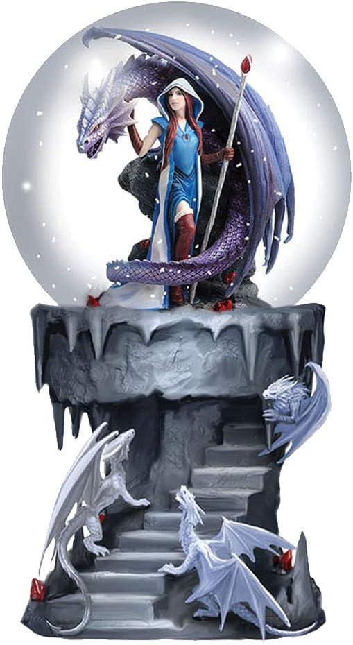 Polyresin Einheitsgr/ö/ße violett Nemesis Now Mage Snowglobe Anne Stokes Schneekugel Shaker Dragon Magage