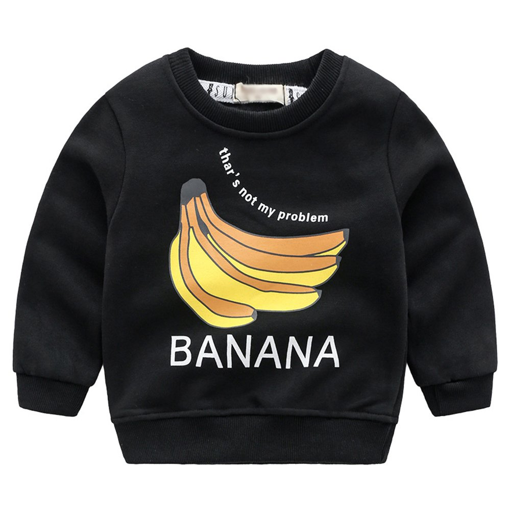 Happy childhood Baby Boys Long Sleeve Pullover Banana Sweatshirts Fashion Tops Blouse for Boys