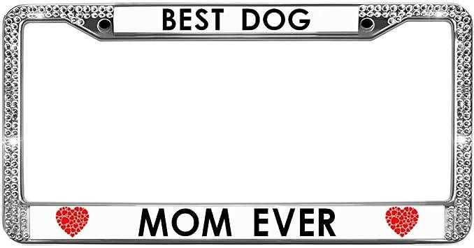 Best Mom Ever Chrome Metal License Plate Frame