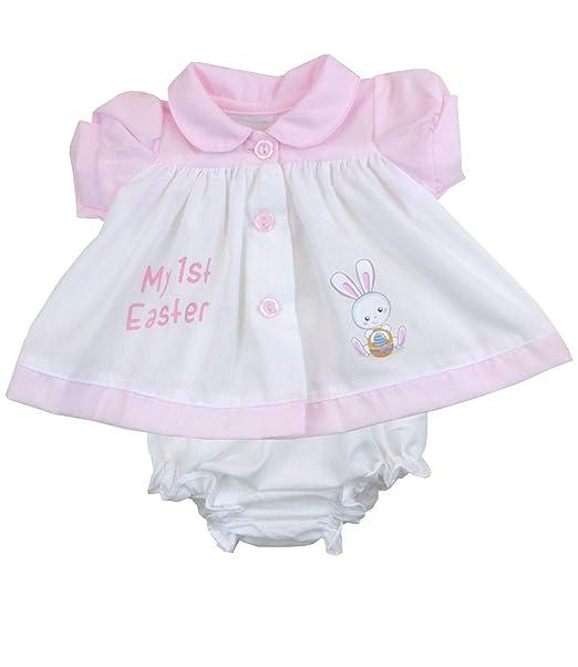 bed8854ce89c BabyPrem Preemie Baby 2 Piece Easter Dress & Knickers Set White 3-5lb Prem 2