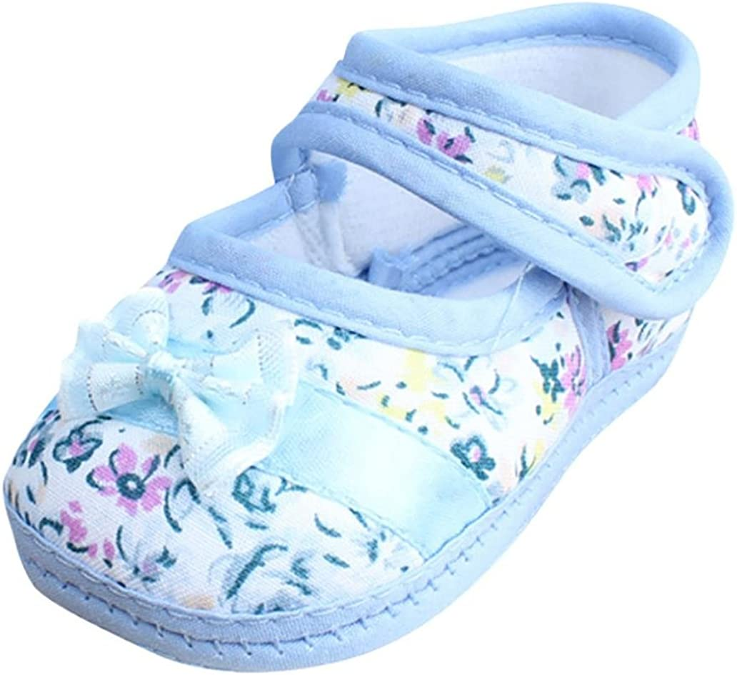 Witspace Newborn Baby Boys Girls Bowknot Crib Shoes Toddler Flat Prewalker Warm Shoes