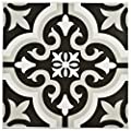 "SomerTile FTC8BRCL Bracara Ceramic Floor and Wall Tile, 7.75"" x 7.75"", Black/Grey/White from SomerTile"