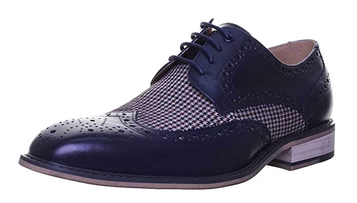 Justin Reece Morgan, Chaussures de Ville à Lacets pour Homme - Bleu - Bleu Marine,