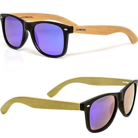 GOWOOD Gafas de sol de madera de bambú para hombre y mujer ...